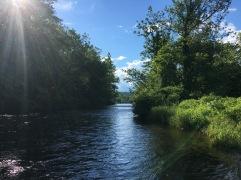 Some smaller water on the Farmington River.